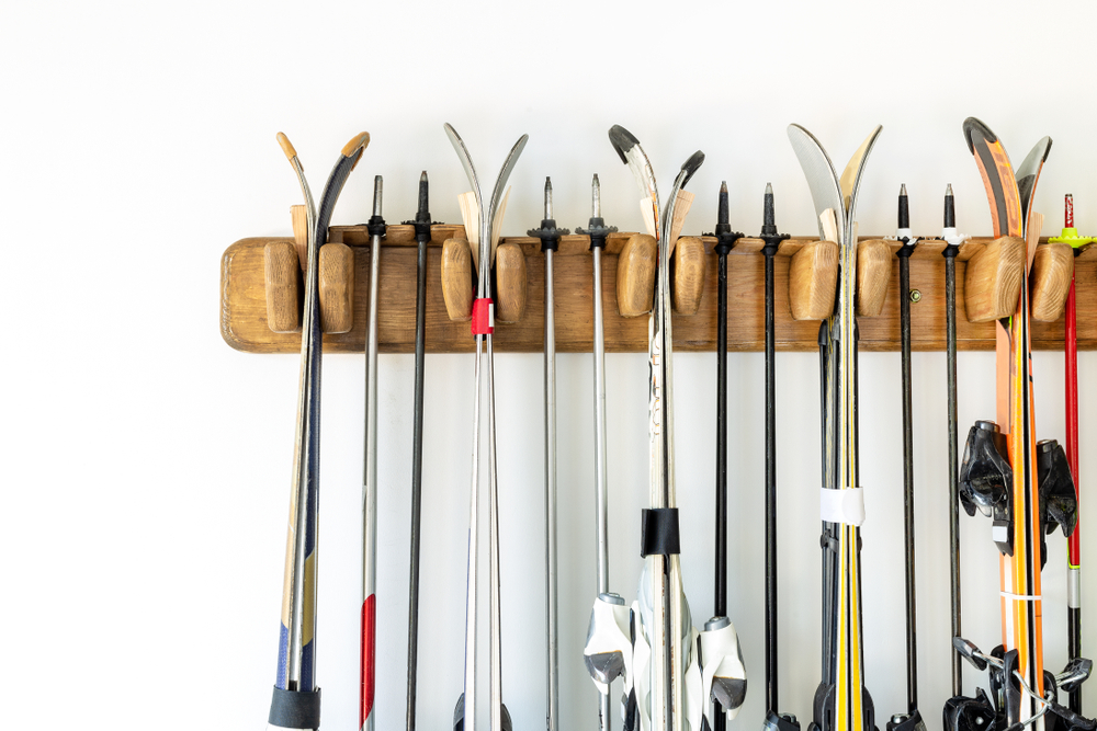 Create vertical diy garage storage for sports equipment to create more space