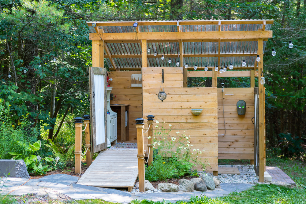Outdoor Bathroom Ideas For The Patio And Pool